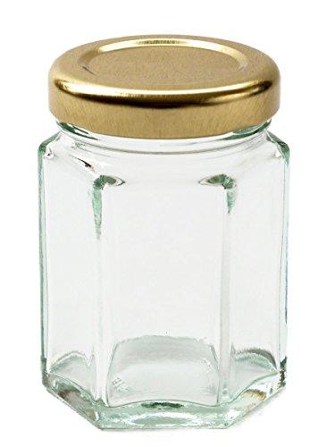 Nutley\'s sechseckiges Konfitürenglas für Marmelade und Chutney, 110ml, (Packung enthält 12 Stück)