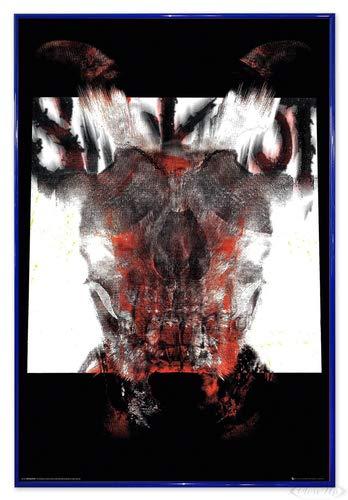 Close Up Slipknot Poster Album Cover 2019 (94x63,5 cm) gerahmt in: Rahmen blau