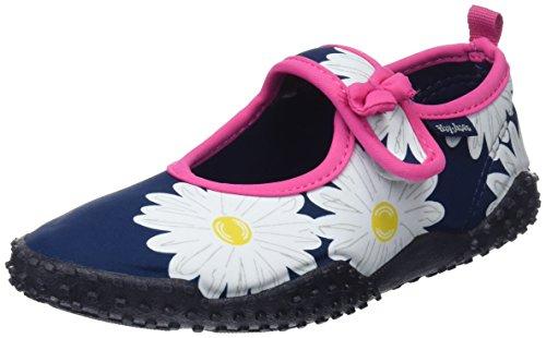 Playshoes Unisex-Kinder UV-Schutz Badeschuhe Margerite Aqua Schuhe, Blau (Marine), 20/21 EU