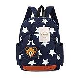 Uworth Sterne Kleinkind Kinder Rucksack für Kindergarten Junge Babyrucksack Schultasche Dunkelblau