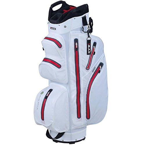 2015 Big Max Aqua I-Dry M Cart Bag Trolley Golf Bag 14-Way Divider White/Red