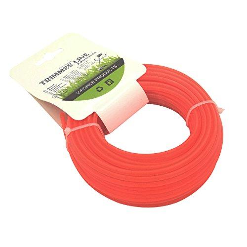 Line Trimmer Attachment (Cancanle Garten Maschine Brush Cutter Seil Gras Trimmer Line Quadratisch 3mm15m Rot)