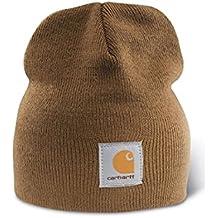 Carhartt Gorro de Punto Cap - Marrón Sombrero Gorra de Beisbol Logotipo A205BRN CHA205BRN