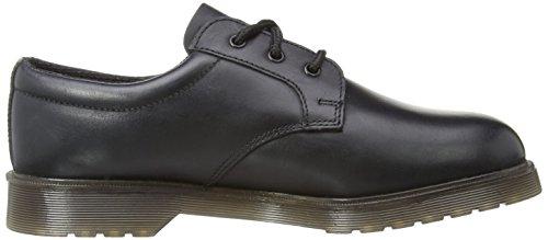 Grafters Denver uomo in pelle imbottita uniforme scarpe nero Black