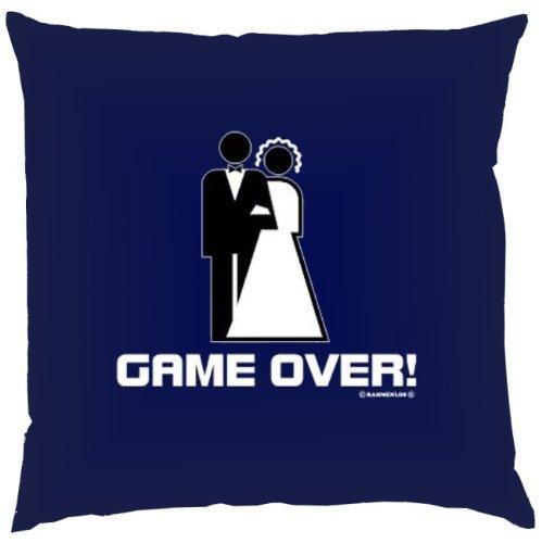 Kissen mit Innenkissen - Game Over - 40 x 40 cm - in navy-blau