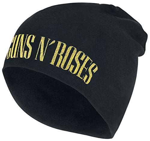 Guns N Roses Logo - Jersey Beanie Mütze schwarz -
