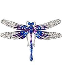 d50d0a0b0cd4 Wicemoon Broches de Cristal Vintage Libélula Broches Para Las Mujeres  Visten Accesorios de La Joyería