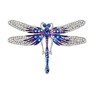 Fablcrew Blau Tropfen Öl Schmetterling Brosche Brosche Zarte Kristall Damen Brosche Kleidung Zubehör