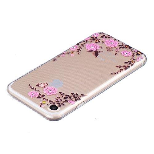 Pour iPhone 7 Plus / Pro Coque,Ecoway Housse étui en TPU Silicone Shell Housse Coque étui Case Cover Cuir Etui Housse de Protection Coque Étui –œil Jardin