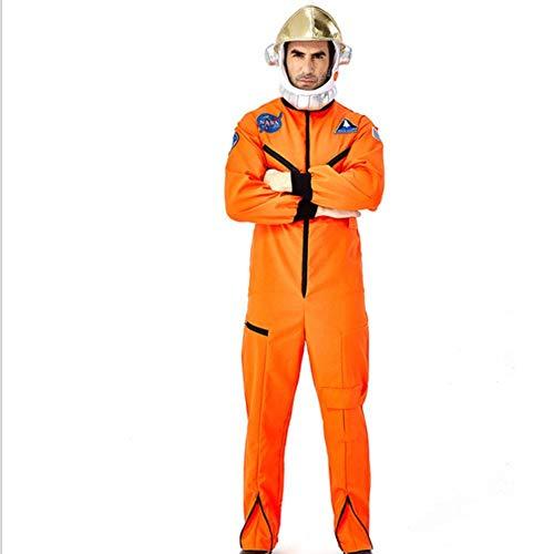 AIYA Astronaut Kostüm für Erwachsene mit gelbem Raumanzug Maskerade Showkleid