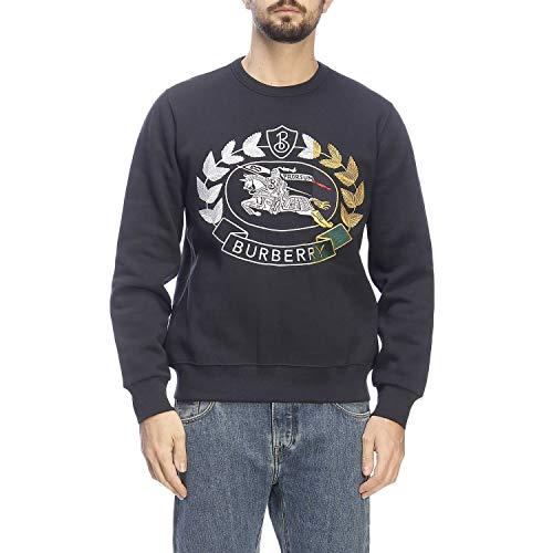BURBERRY Herren 8007073 Blau Baumwolle Sweatshirt