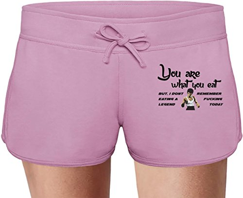 You are what you eat Summer Sweat Shorts For Women & Ladies | 80% Cotton-20%Polyester| DTG Printing| Unique & Custom Briefs, Bermudas, Underpants, Slacks & Sports Clothing By Wicked Wicked