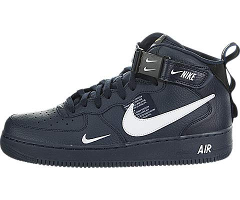 timeless design 11dd1 9ebcb Nike Air Force 1 Mid 07 LV8, Scarpe da Ginnastica Uomo, Blu (