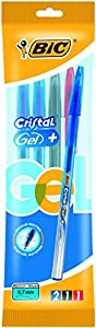BIC 890048 - Bolígrafo de tinta gel, cuatro colores importado de Alemania , Modelos/colores Surtidos, 1 Unidad