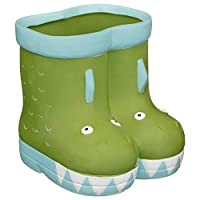 A2Z Home Solutions Brighten Up Your Summer With Decorative Feature Kids Ceramic Welly Planter Flowers Pot Backyard Garden Ornament -Crocodile