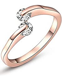 karatcart Rose Gold Plated Ring for Women
