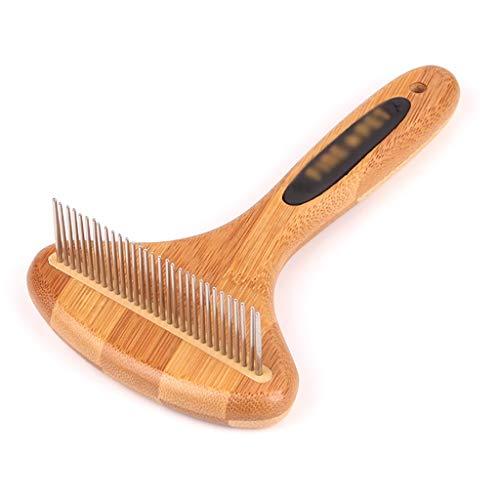 Haustierbürste Katzenbürste Hundebürste Massivholzgriff Saubere Bürste Haustier-Kardiergerät Haustier-Kardiermaschine Haarentferner Praktisch arbeitssparend