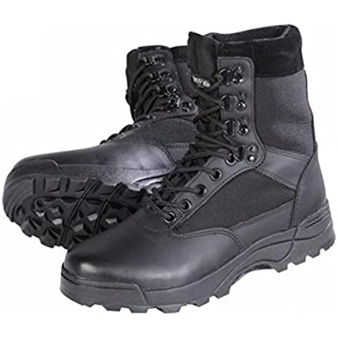 Botas Scarponcini Botines Para Hombre Moto Brandit Tactical Boot Anfibios Táctica Biker Custom 46 negro