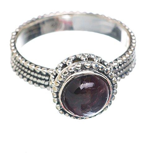 Garnet, Granat 925 Sterling Silber Ring 9