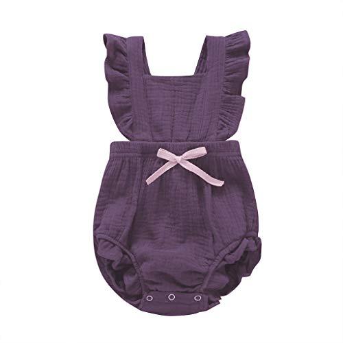 Junior Kostüm Nette - Julhold Kleinkind Baby Nette Ärmellose Farbe Solide Rüschen Dünne Spielanzug Neugeborenen Bogen Overall Kleidung 3-24 Monate