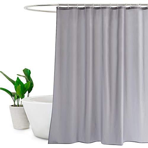 EurCross Polyester Duschvorhang Liner Schimmelresistent wasserabweisend mit Rostfreie Tüllen, grau, 72