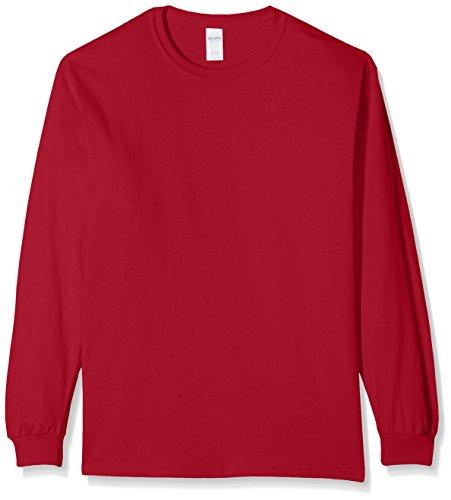 Gildan Herren T-Shirt Ultra Cotton L/Sleeve Tee Red (Cardinal Red)