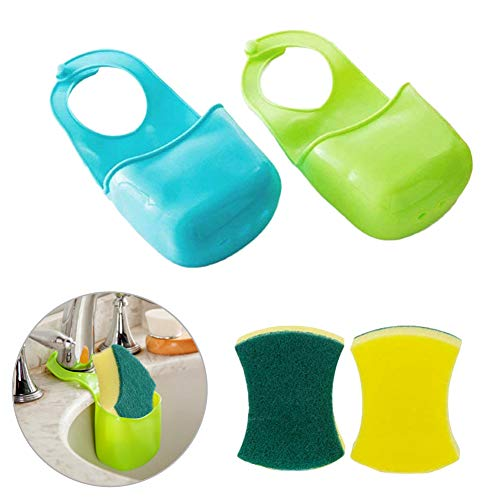EQLEF® 2 PCS Schwamm Storage Box Rack-Korb Wäsche-Tuch Toilettenseife Regal Organizer Küche Badezimmer Gadgets Spüle Regal Bag