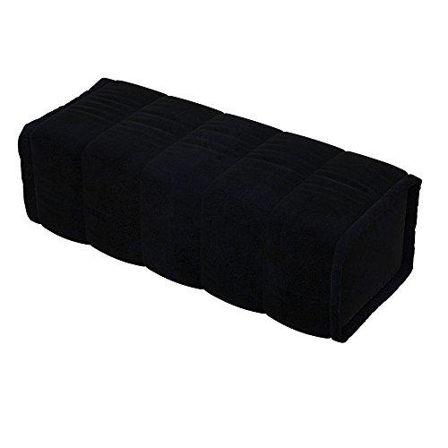 Soferia - Ikea BEDDINGE Fodera per Cuscino Quadrato, Eco Leather Black
