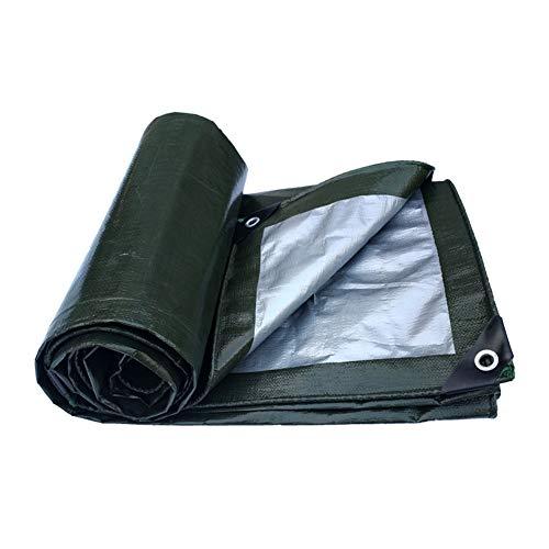 ZXXY wasserdichte Plane, dunkelgrüne Plane aus Segeltuch für Pergola, Camping und Hinterhof, 180 g/Quadratmeter,3x4