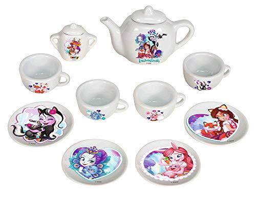 Smoby 7600310579 ENCH DINETTE Porcelaine Enchatimals Porzellan-Geschirrset, weiß