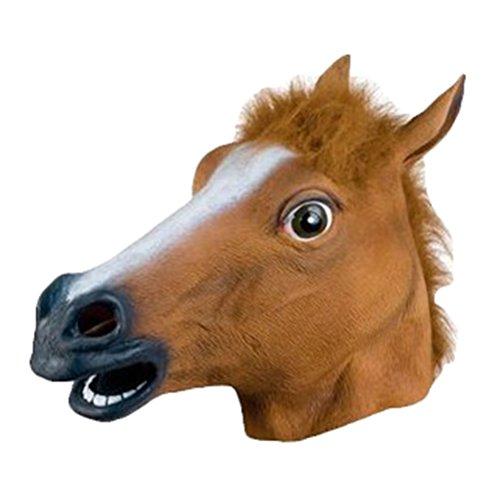 Auspicious beginning Pferd Kopf Weihnachten Party Maske-Adult Zubehör, Braun