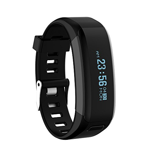 ★ Loveso ★-Smart Armband Bluetooth 4.0 Smart Intelligent Watch Sport Watch for iOS 8 or above Version and Android 4.3 or Higher Version_Black
