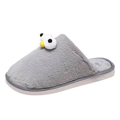 Inverno Pantofole Home, MEIbax Pantofole Moda Ciabatte Scarpe Cotone Scarpe Pantofole da Casa Morbide Calde Antiscivolo Donna Uomo