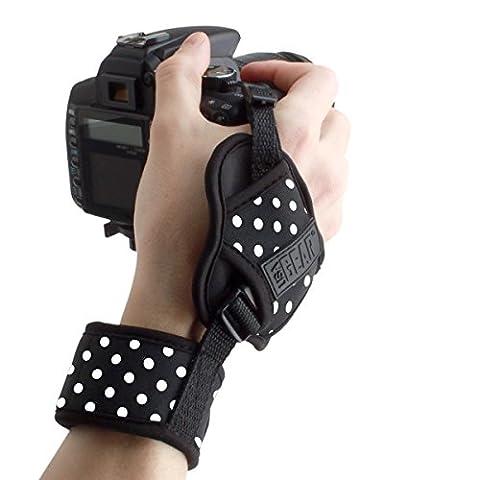 TrueSHOT Gepolsterte Handgelenkschlaufe Handschlaufe Gurt für Reflex SLR Kameras wie Canon EOS 1300D 80D 700D Nikon D5300 D7200 Sony Alpha 68 und mehr