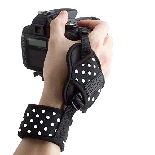 TrueSHOT Gepolsterte Handgelenkschlaufe Handschlaufe Gurt für Reflex SLR Kameras wie Canon EOS 1300D 80D 700D Nikon D5300 D7200 Sony Alpha 68 und (Hippie Herren Für Kit)