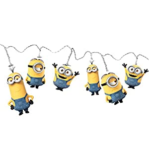 Spearmark 50472 Bob/Kevin and Stuart Plastic Minions String Lights, Yellow