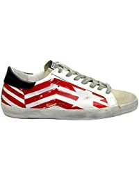 Golden Goose Sneakers Uomo G34MS590N37 Pelle Rosso 2f67f0bd87e