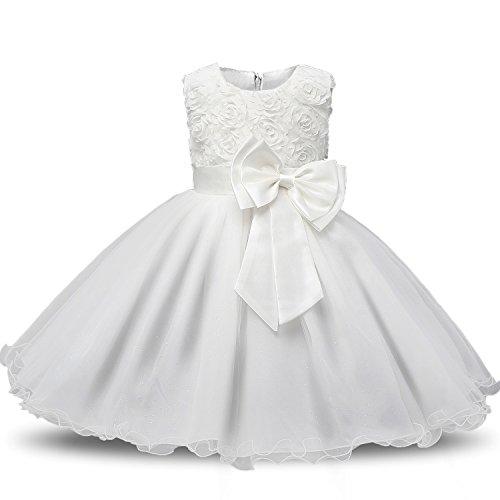 FREEFLY Mädchen Kinder Blume formale Hochzeit Brautjungfer Party Taufe Prinzessin Kleider