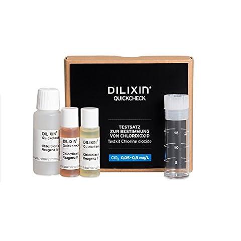 DILIXIN QUICKCHECK, Schnelltest für Chlordioxid ClO2, Chlordioxid-Nachweis im Wasser, Testsatz für die Wasseruntersuchung, Messbereich: 0,05-0,5 mg/L