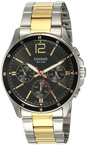 CASIO Reloj con Movimiento Cuarzo MTP-1374SG-1A