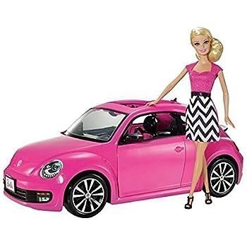 barbie y6857 accessoire poup e voiture fiat 500 rose jeux et jouets. Black Bedroom Furniture Sets. Home Design Ideas