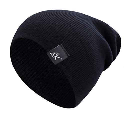 Beaums Unisex color sólido de punto de Invierno Gorros Hip-hop Snap ancho  sombrero al 0c7f6b34e1e