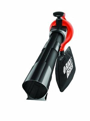 Black + Decker GW2200-QS Laubsauger 2200Watt, Laubsauger / -bläser / -häcksler in einem Gerät mit 35l Fangsackvolumen von Blackdecker