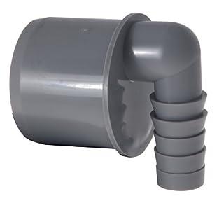 Airfit Schlauchnippel, 90° gewinkelt DN 50 für Schlauch von Ø 19 bis 21 mm, KS-grau