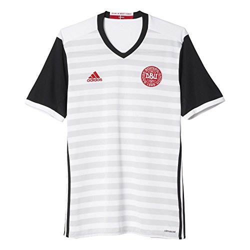 Herren Fußball Replica Trikot (adidas Herren Dänemark Auswärtstrikot Replica Grau/Weiß/Schwarz, L-54)