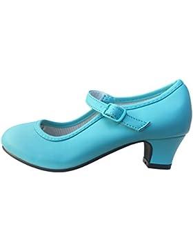 La Señorita Zapato Elsa Frozen Azul Hielo Flamenco Sevillanas de la Princesa Niña