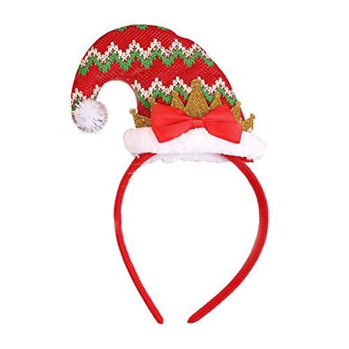 Toyvian 1 stück Weihnachten Stirnbänder Weihnachtsmütze Haarbänder Weihnachten Urlaub Party Haarbänder Haarschmuck Partei Liefert Geschenke für Kinder Erwachsene