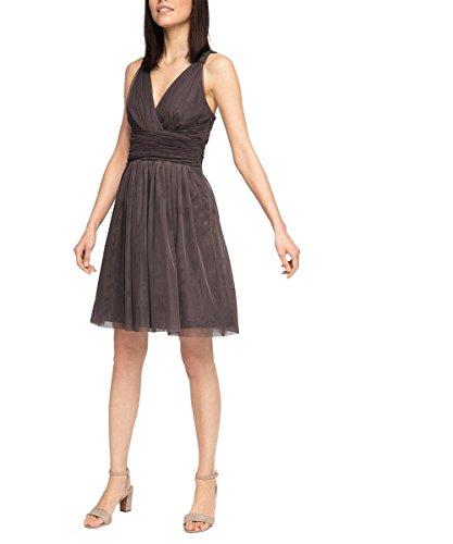 ESPRIT Collection Damen Kleid 066eo1e021-Wickeloptik Braun (TAUPE 240)