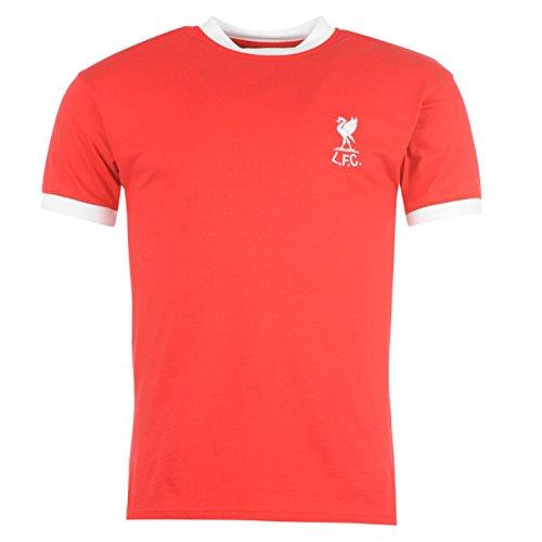 Score Draw Liverpool FC 1973 Home 7 Herren Fussball Trikot Retro Sport Shirt Red/White Large (Retro Home Trikot)
