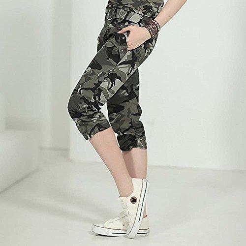 huateng Femmes Ensemble de Camouflage Casual Cargo,Survêtement Two Pieces Sportswear un pantalon